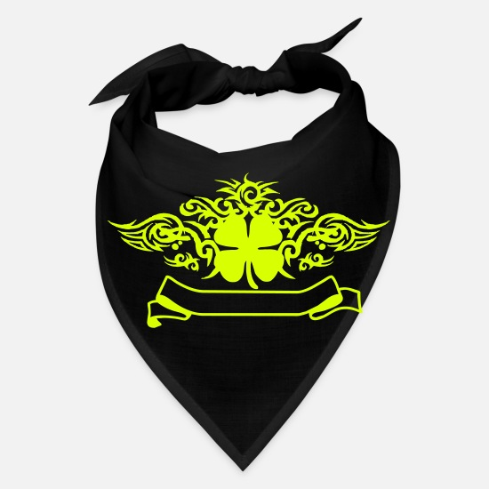 Irishcontest Caps - Clover Tribal Tattoo - Bandana black