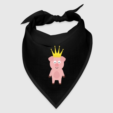 Pig King with Crown Gift - Bandana