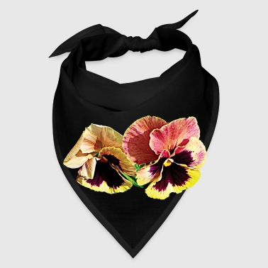 Two Pastel Pansies - Bandana