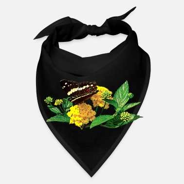 Attractive Butterfly on Yellow Lantana - Bandana