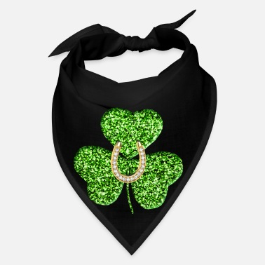 Horseshoe Shamrock And Horseshoe - Bandana