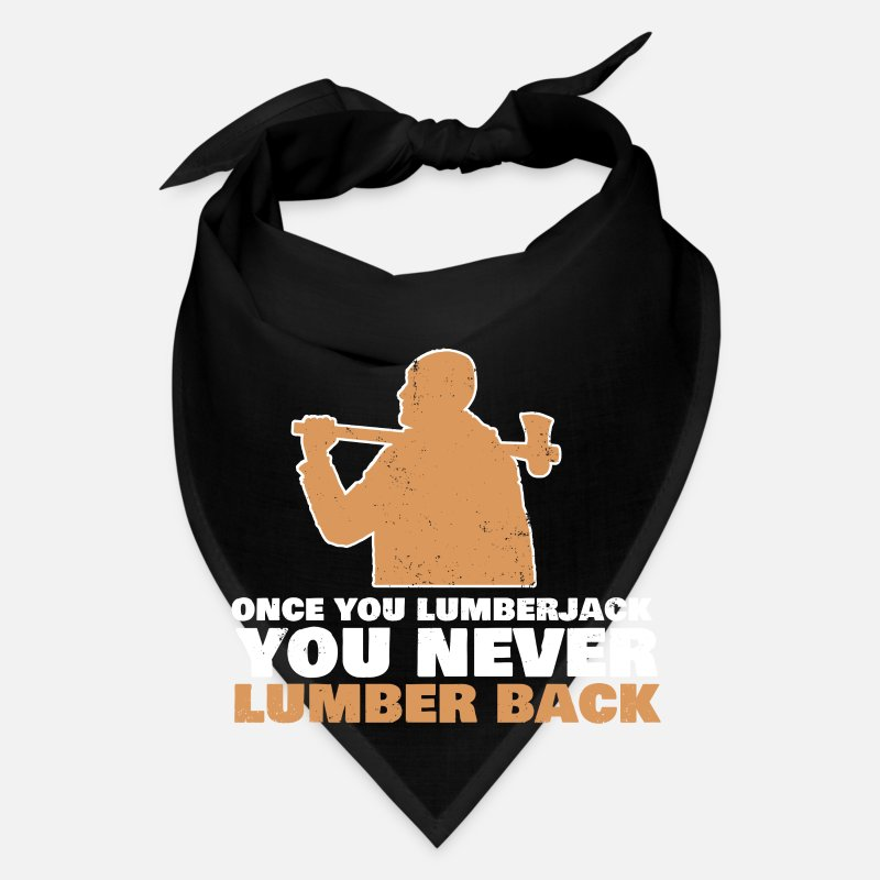 Gift Idea Caps - Lumber Jack Beard Feller Lumberman Gift Idea - Bandana black