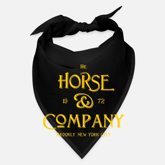 Company Caps - The Horse and Company - 1972 - Brooklyn - New York - Bandana black