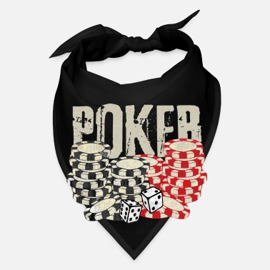 Bluff Poker Flop bluff holdem cards dices - Bandana