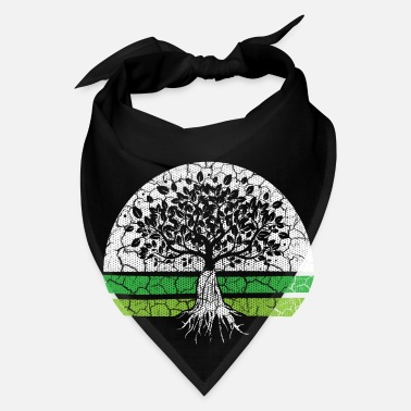 Enviromental Green Tree earth planet co2 climate change eco bio - Bandana