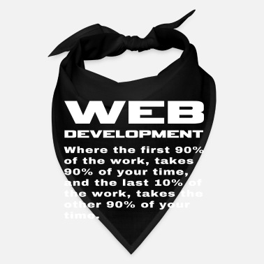 Development Design Engineer Funny Web Developer Engineer Programmer Phrase - Bandana