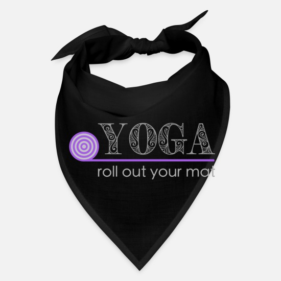 Gift Idea Caps - Yoga roll out your mat - Bandana black