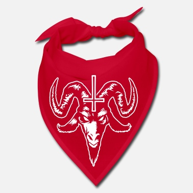 Satanic Goat Head with Cross (inverted) - Bandana