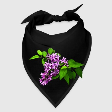 Lilacs and Leaves - Bandana