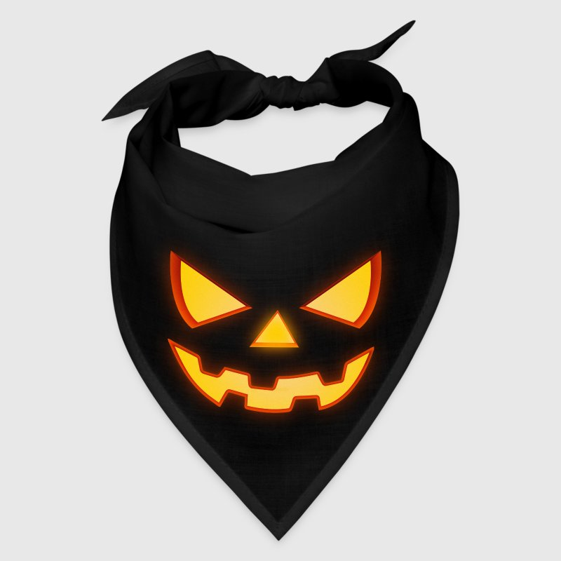 Scary Halloween Horror Pumpkin Face - Bandana