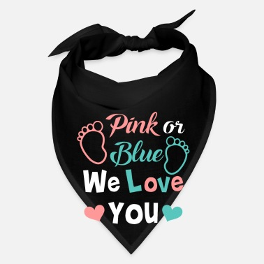 Pregnant Pink or blue we love you - cute baby gender design - Bandana