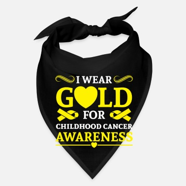 Wear I wear Gold for childhood cancer awareness - Bandana
