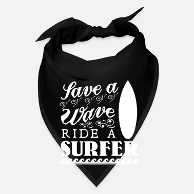 Kiteboard Save a wave ride a surfer for ocean and wave lover - Bandana