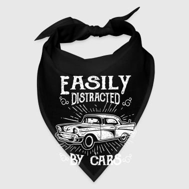 Easily distracted by cars - fun vintage racer gift - Bandana