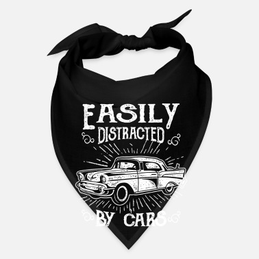 Drive Go By Car Easily distracted by cars - fun vintage racer gift - Bandana