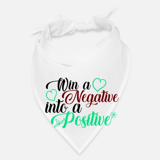Happy New Year Caps - Win a negative into a positive - Bandana white