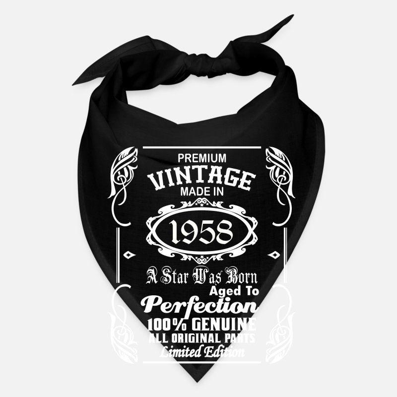 1958 Caps - Vintage made in 1958 - Bandana black