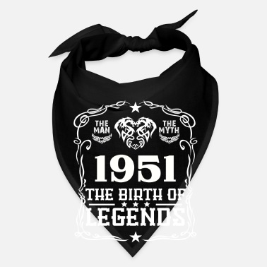 Year Of Birth Legends 1951 - Bandana