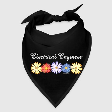 White Electrical Engineer Asters - Bandana