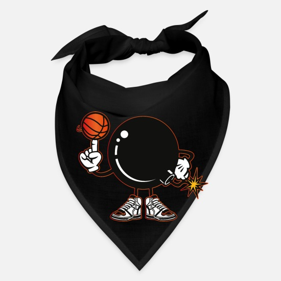 Basket Caps - Basketball team bomb explosion - Bandana black