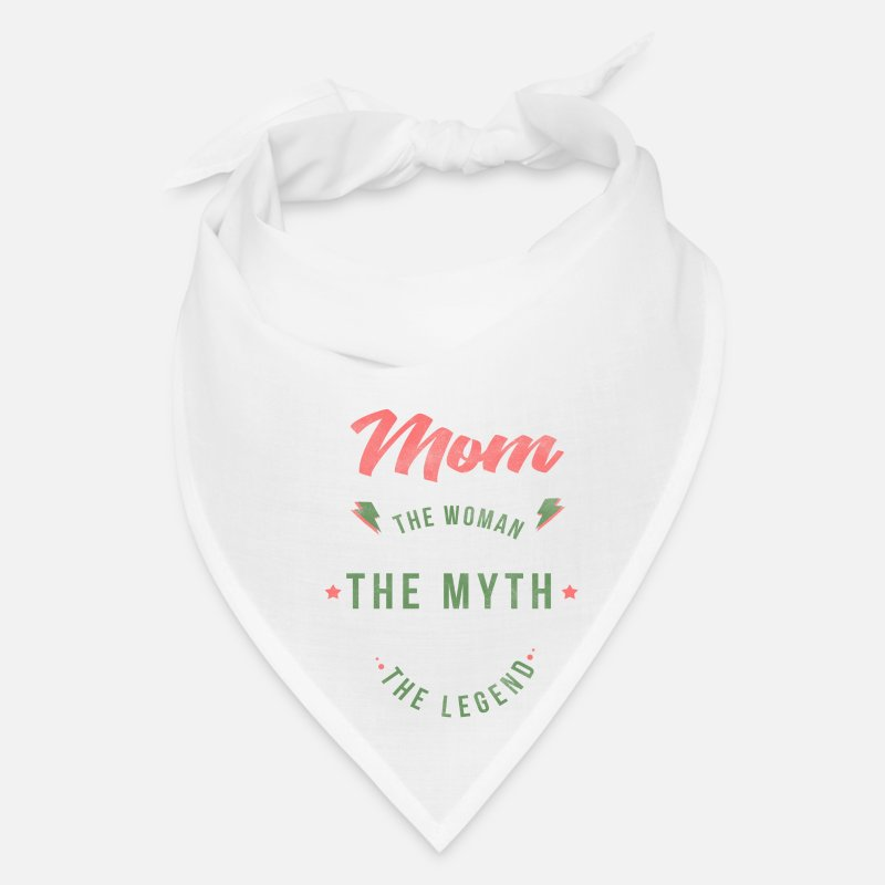 Mum Myth Legend Mothers Day Message Grandma Gift Bandana - white