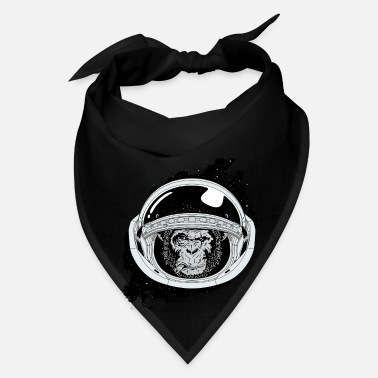 Black And White Collection Space monkey Black and white Art - Bandana