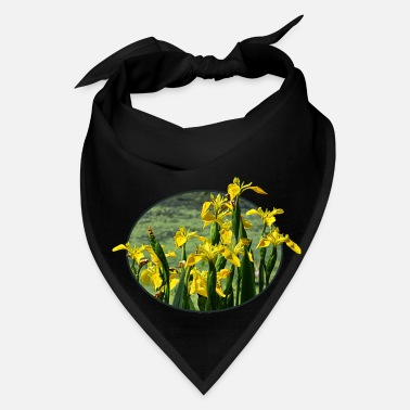 Against Yellow Irises Against Sky - Bandana