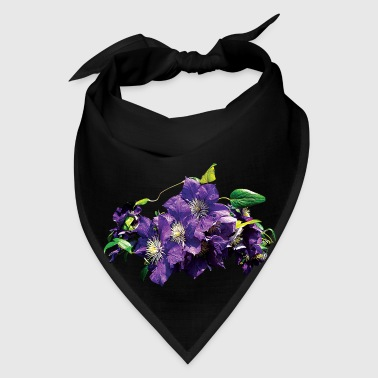 Purple Clematis with Vine - Bandana