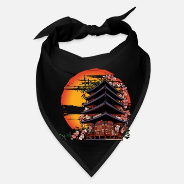 Tradition Traditional Japanese Art Abstract Building - Bandana