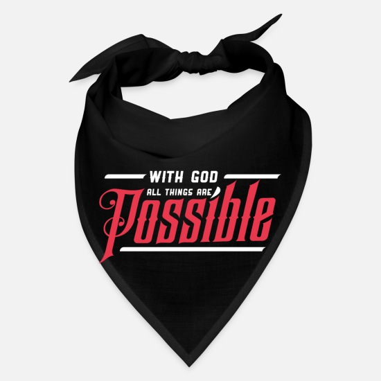Typography Caps - All Things are Possible 2 - Bandana black