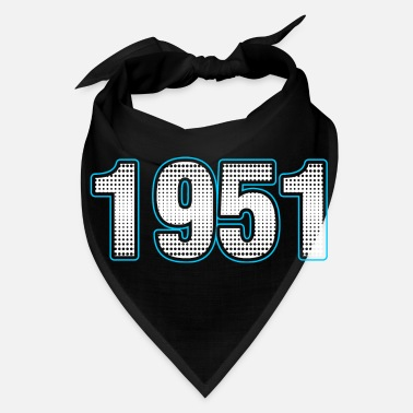 Year Of Birth 1951 Numbers years Tshirt - Bandana