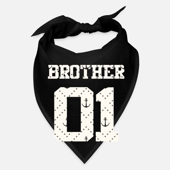 Friendship Caps - Brother 01 Brothers For Life Combi Friends Shirt - Bandana black
