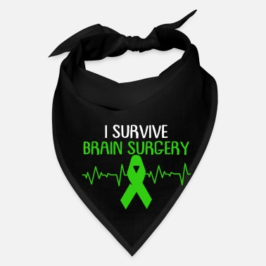 Injury Brain Injury Awareness TBI Green Support Recovery - Bandana