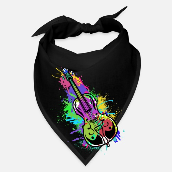Double Bass Caps - Cello Double Bass Music Teacher Symphony Violin - Bandana black
