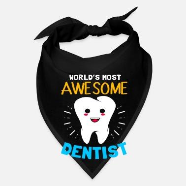 Dentist Tooth Dental Surgery Assistant Teeth Brush Bandana - black