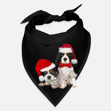 Nice King Charles Naughty or Nice  - Bandana