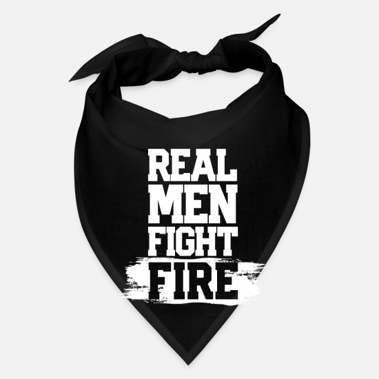 Fire Fighter Caps - Real Men Fight Fire - Bandana black
