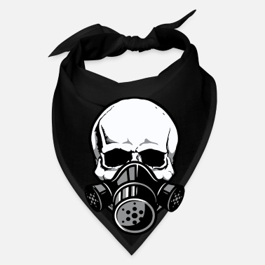 Gas Skull with Gas Mask - Bandana