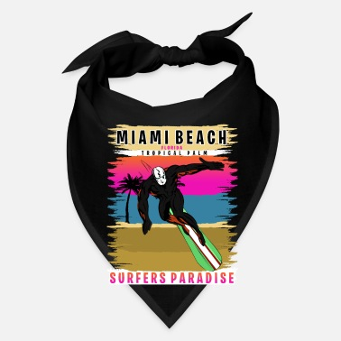 Florida Palm Tree Miami Beach Florida Tropical Palm Surf - Bandana