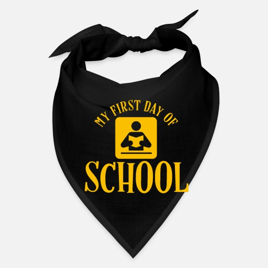First Day Of School Caps - First day of school gift holidays school entrance - Bandana black