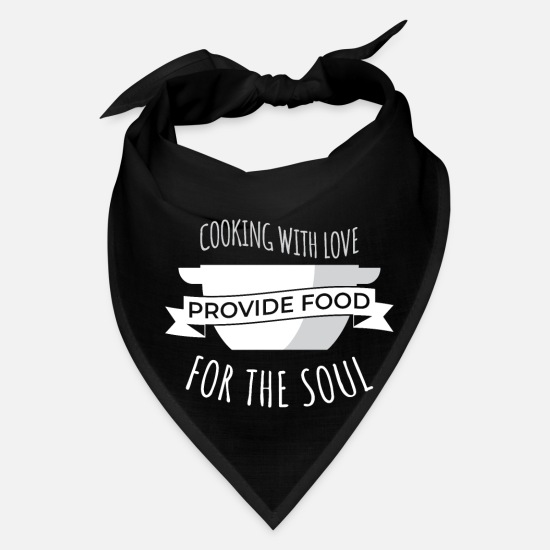 Cooking Caps - Cook Cooking Kitchen Cook Restaurant Cook - Bandana black
