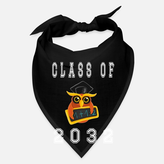 Love Caps - Class Of 2032 Graduation First Day Of School - Bandana black