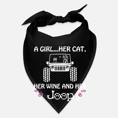 Herring A girl her cat her wine and her jeep - Bandana