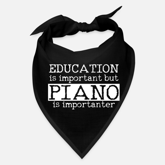 Piano Caps - Piano - Bandana black
