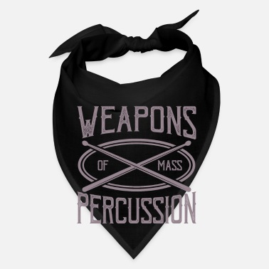 Bassist Weapons OF Mass Percussion Drummer Musician Gifts - Bandana