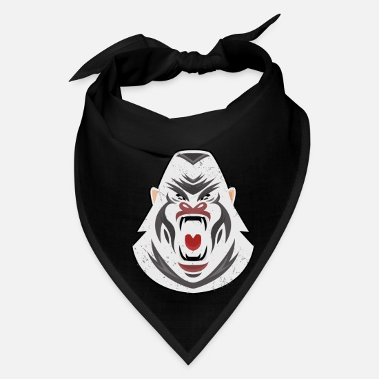 Africa Caps - Gorilla Face product Angry Expression Cool Animal - Bandana black