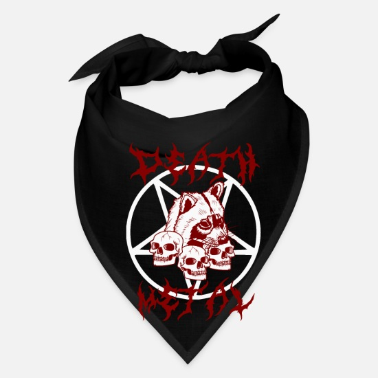 Death Metal Raccoon Skull Metal Gift Bandana - white