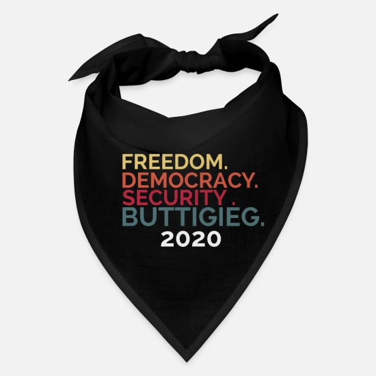 Election Caps - Buttigieg 2020 Freedom Democracy Security - Bandana black