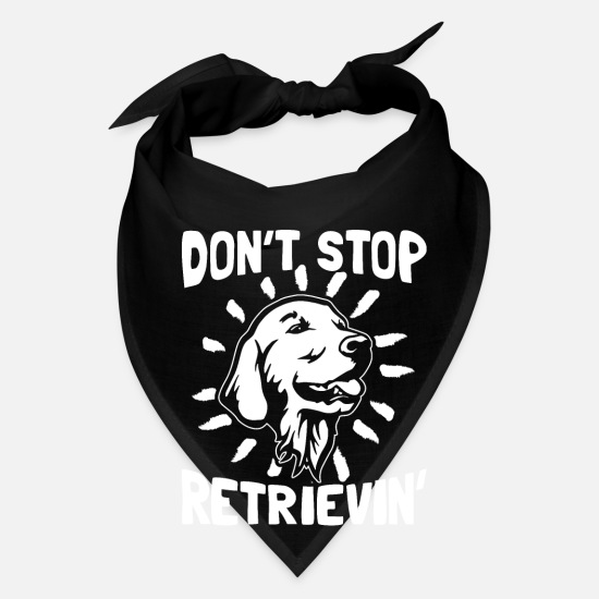 Pet Caps - Don't stop retrievin' - Golden Retriever - Bandana black