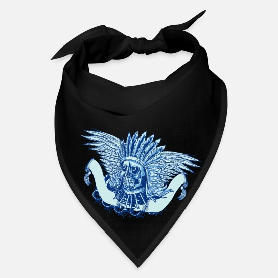 American Caps - Native American Indian Chief Skull - Bandana black